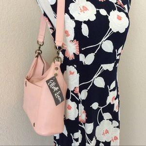 Elliot Lucca leather bag pink shoulder bag leather